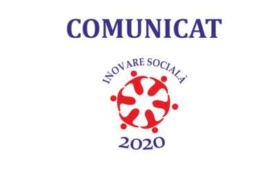 """Scrisoare de comunicare PUNCTAJ FINAL în cadrul Proiectului """"INOVARE SOCIALA 2020"""" – POCU/449/4/16/128363"""