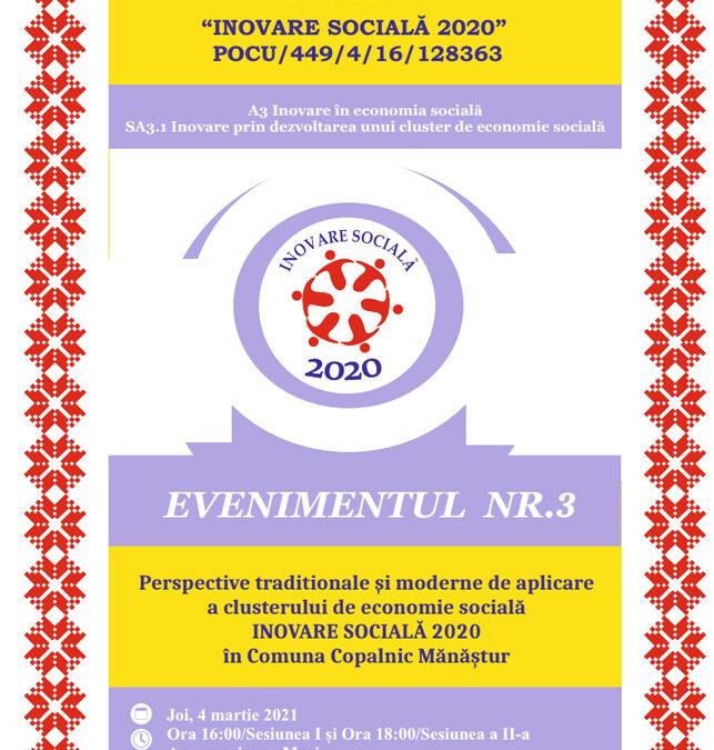 Perspective tradiționale și moderne de aplicare a clusterului de economie socială – Evenimentul nr. 3