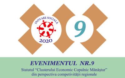 """Evenimentul nr. 9 – Statutul """"Clusterului Economic Copalnic-Mănăștur"""" din perspectiva competitivității regionale"""