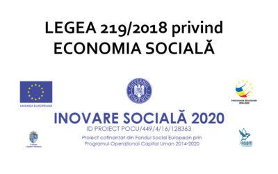 Legea nr. 219/2015 privind economia socială