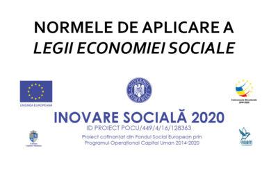 Normele metodologice de aplicare a prevederilor Legii nr. 219/2015 privind economia socială