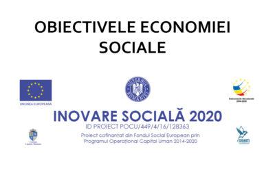 Obiectivele ECONOMIEI SOCIALE