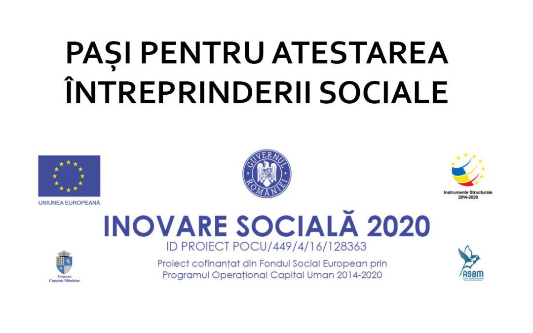 Atestarea întreprinderii sociale